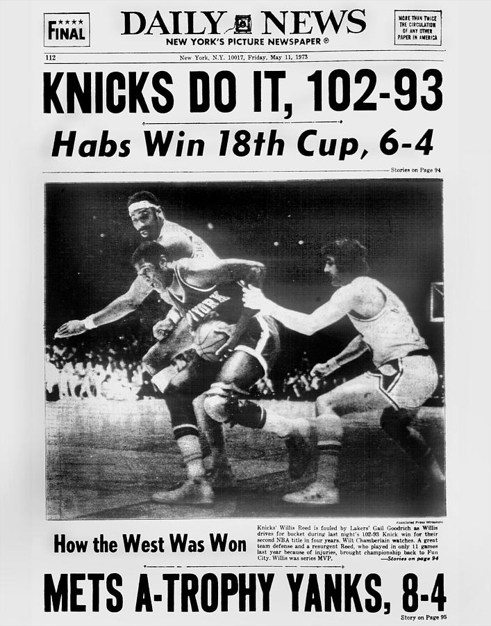 Daily News Back Page May 11, 1973 Photograph by New York Daily News Archive