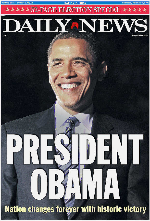 Daily News Front Page Election Special Photograph by New York Daily News