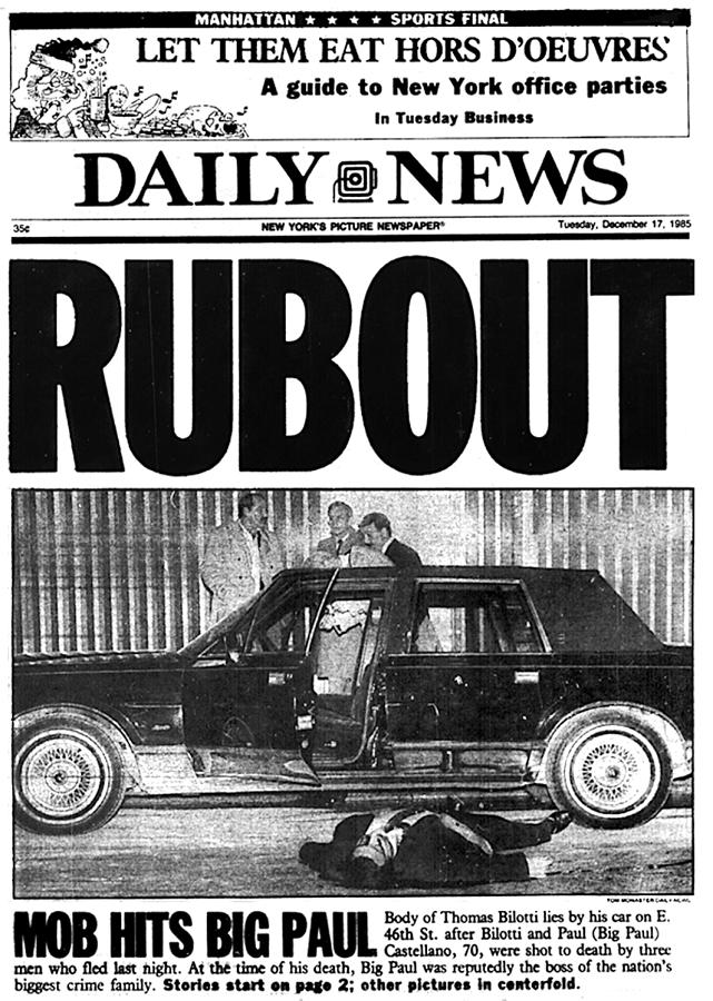 Daily News Front Page Rubout Photograph by New York Daily News Archive