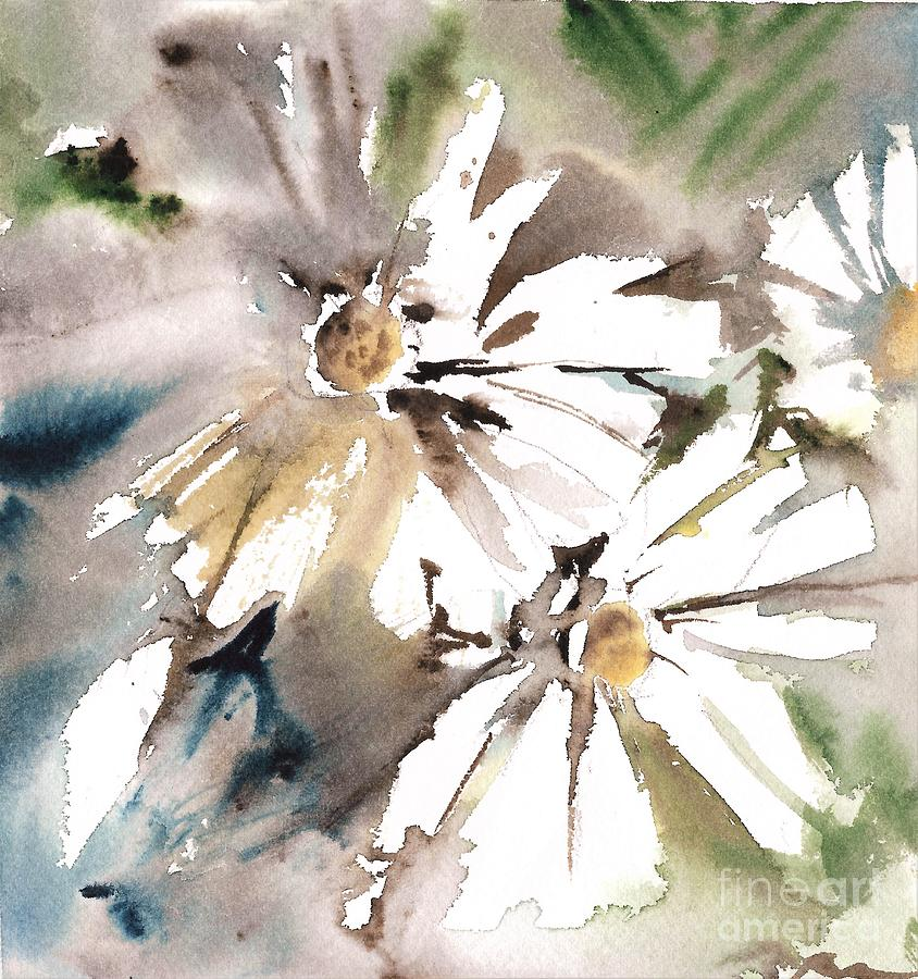 Daisies Painting - Daisies Light by Mindy Newman