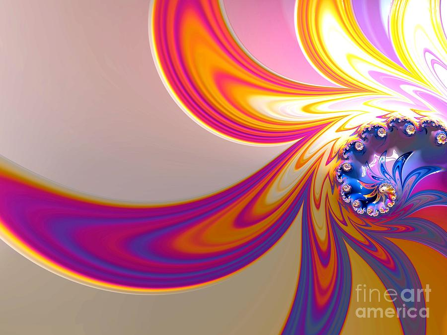Abstract Photograph - Daisy In Color Mode by Minnetta Heidbrink