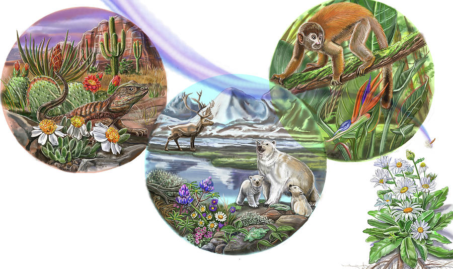 Animals Painting - Daisylocks Spread 12 by Cathy Morrison Illustrates
