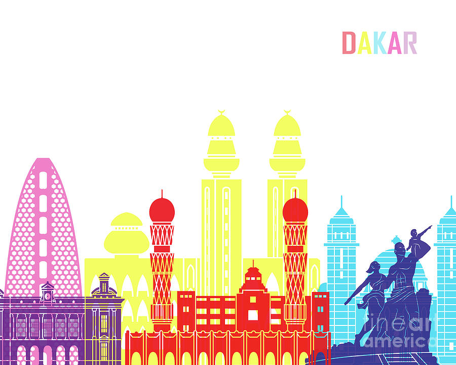 Dakar skyline pop  by Pablo Romero