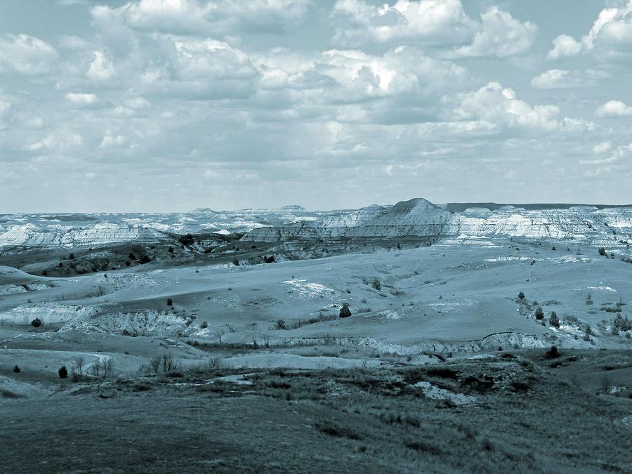North Dakota Photograph - Dakota Badlands Shadows by Cris Fulton