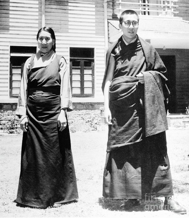 Dalai Lama And Mother Photograph by Bettmann