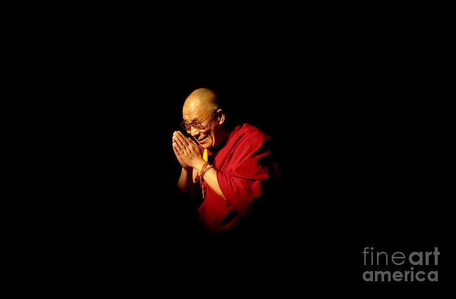 Dalai Lama At Ucla Photograph by David Mcnew