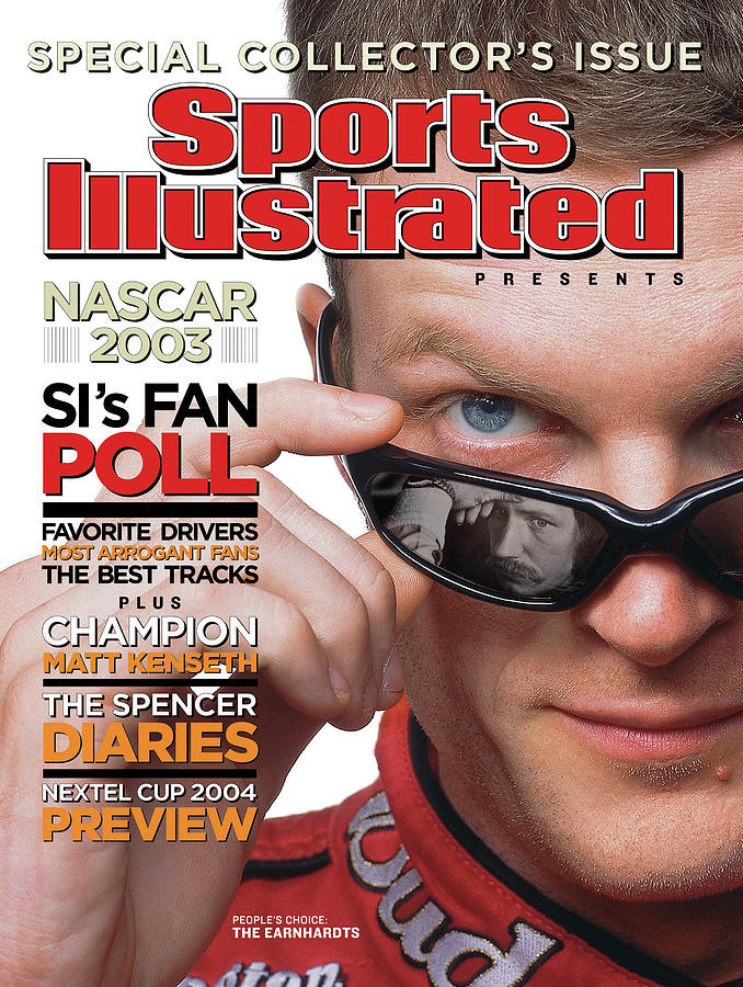 Dale Earnhardt Jr, 2004 Nascar Winston Cup Series Preview Sports Illustrated Cover Photograph by Sports Illustrated
