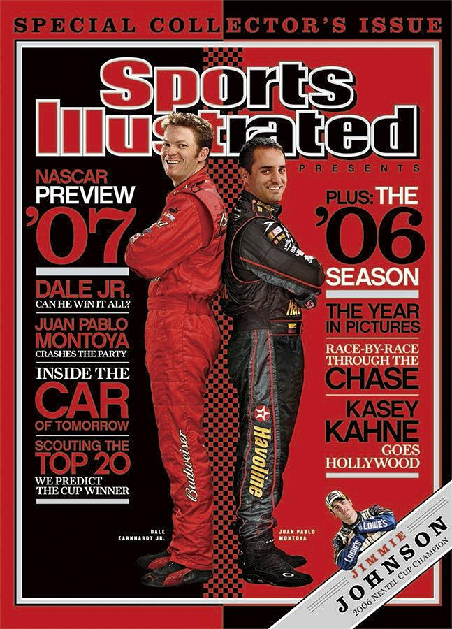 Dale Earnhardt Jr And Juan Pablo Montoya, Nascar Drivers Sports Illustrated Cover Photograph by Sports Illustrated