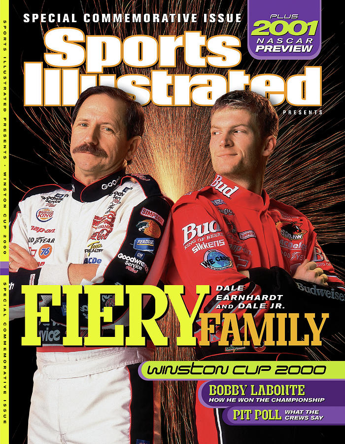 Dale Earnhardt Sr And Dale Earnhardt Jr, 2000 Nascar Sports Illustrated Cover Photograph by Sports Illustrated