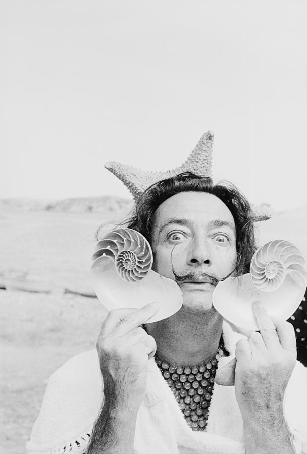 Dali With Shells Photograph by Charles Hewitt