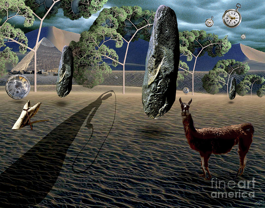 Dali Digital Art - Dalis Llama by Kenneth Rougeau
