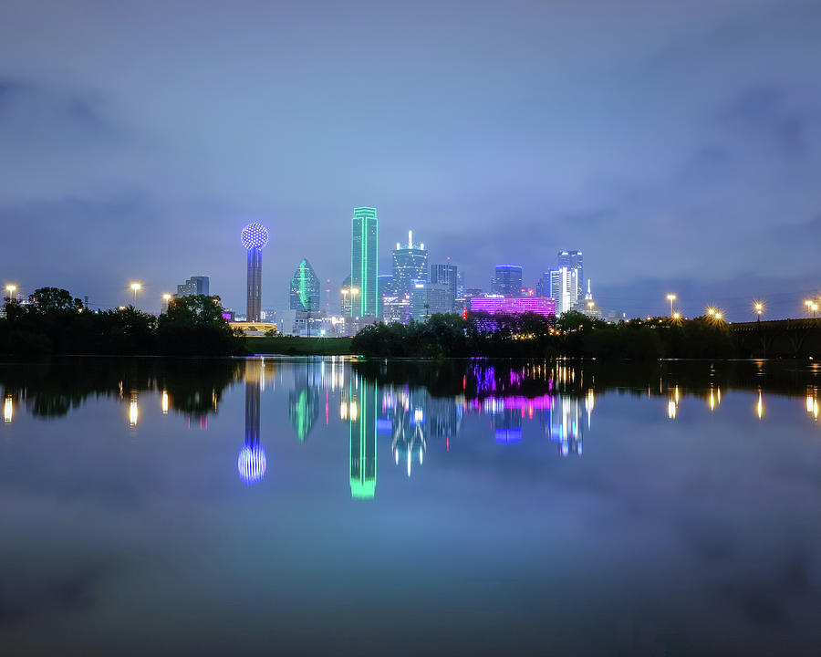 Dallas Cityscape Reflection by Robert Bellomy