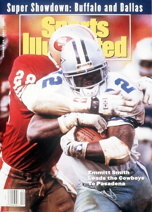 Dallas Cowboys Emmitt Smith, 1993 Nfc Championship Sports Illustrated Cover Photograph by Sports Illustrated