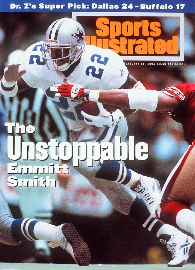 Dallas Cowboys Emmitt Smith, 1994 Nfc Championship Sports Illustrated Cover Photograph by Sports Illustrated