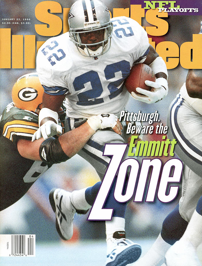 Dallas Cowboys Emmitt Smith, 1996 Nfc Championship Sports Illustrated Cover Photograph by Sports Illustrated