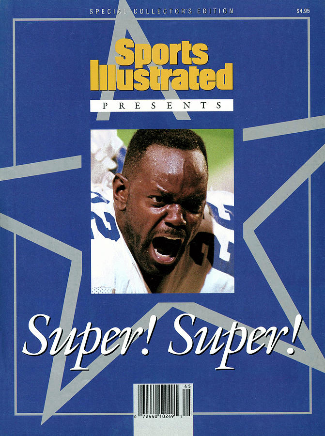 Dallas Cowboys Emmitt Smith, Super Bowl Xxviii Sports Illustrated Cover Photograph by Sports Illustrated