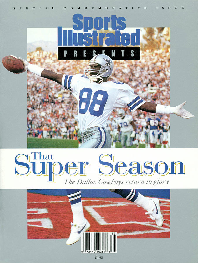 Dallas Cowboys Michael Irvin, Super Bowl Xxvii Sports Illustrated Cover Photograph by Sports Illustrated