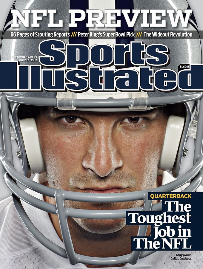 Dallas Cowboys Qb Tony Romo, 2009 Nfl Football Preview Sports Illustrated Cover Photograph by Sports Illustrated