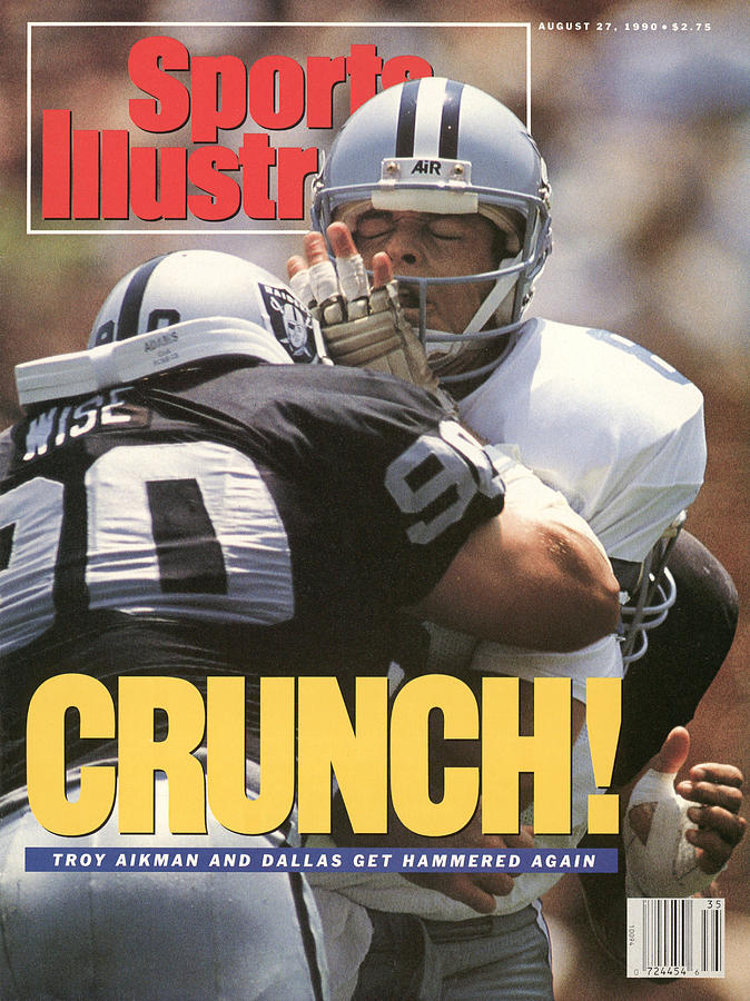 Dallas Cowboys Qb Troy Aikman... Sports Illustrated Cover Photograph by Sports Illustrated