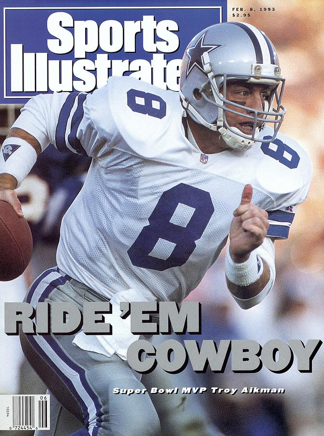 Sports Illustrated Photograph - Dallas Cowboys Qb Troy Aikman, Super Bowl Xxvii Sports Illustrated Cover by Sports Illustrated