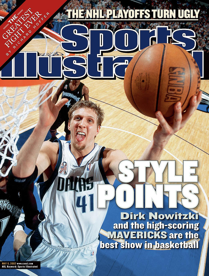 Dallas Mavericks Dirk Nowitzki, 2002 Nba Western Conference Sports Illustrated Cover Photograph by Sports Illustrated