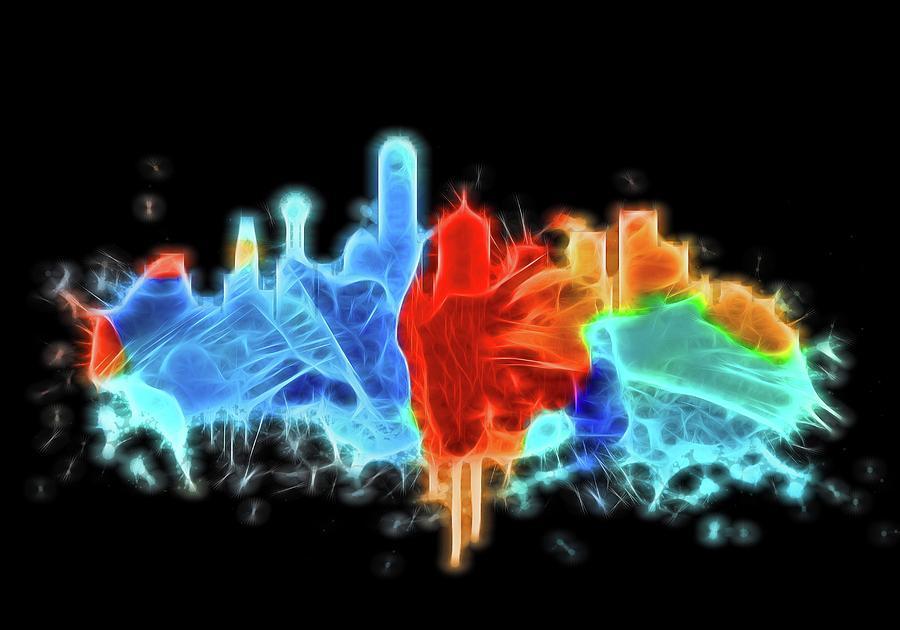 Neon Sign Digital Art - Dallas Neon Color Blast by Dan Sproul