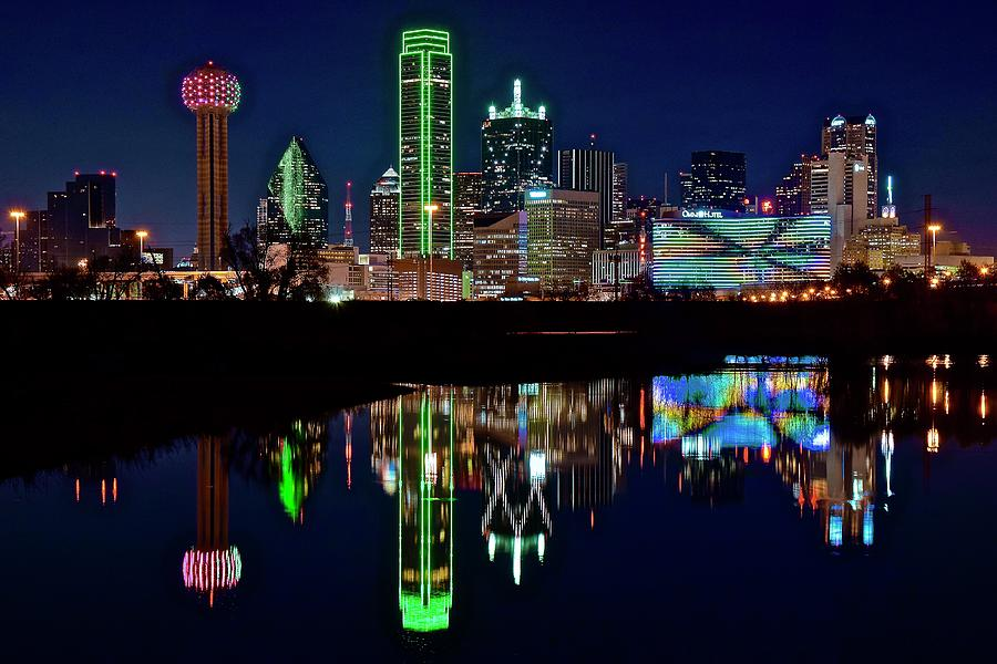 Dallas Reflecting At Night