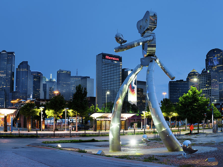Dallas Skyline Walking Tall 070119 by Rospotte Photography