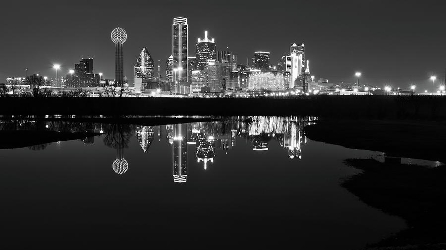 Dallas Texas Cityscape Reflection by Robert Bellomy