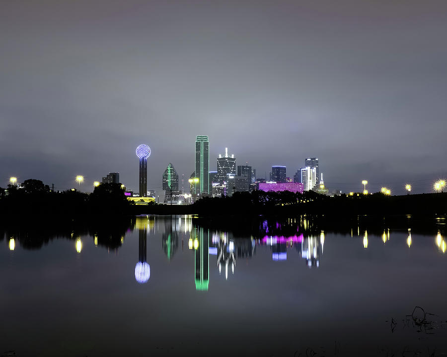 Dallas Texas Cityscape River Reflection by Robert Bellomy