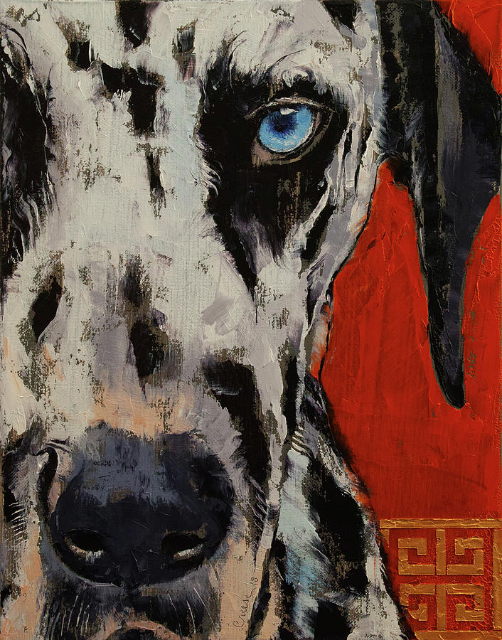 Dog Painting - Dalmatian by Michael Creese