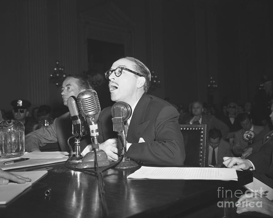Dalton Trumbo At House Hearings Photograph by Bettmann
