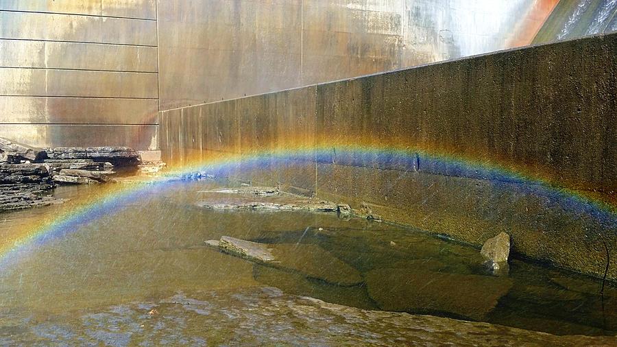 Percy Priest Dam Photograph - Dam Mist Rainbow  by Ally White