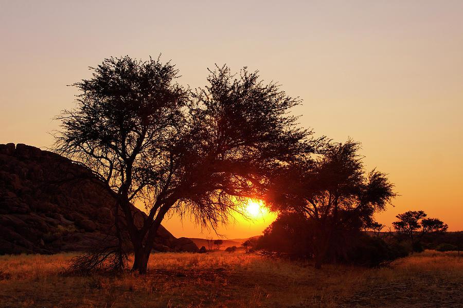Damaraland Landscape At Sunset - Namibia Photograph by Jlr