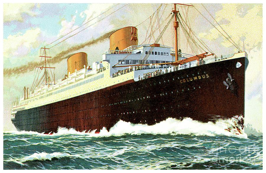 Dampfer Columbus by Norddeutscher Lloyd Bremen