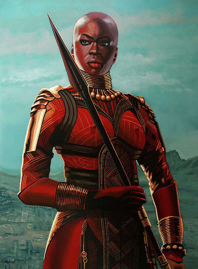Danai Gurira as Okoye Painting by Paul Meijering