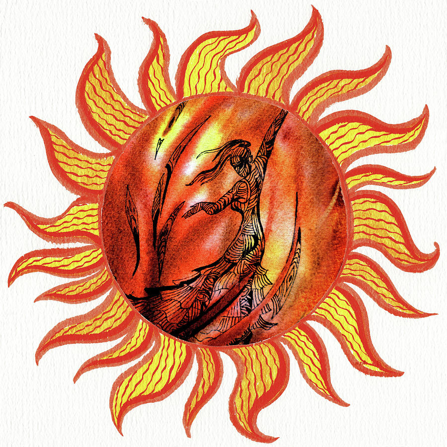 Dance Of The Sun Watercolor IIi Painting