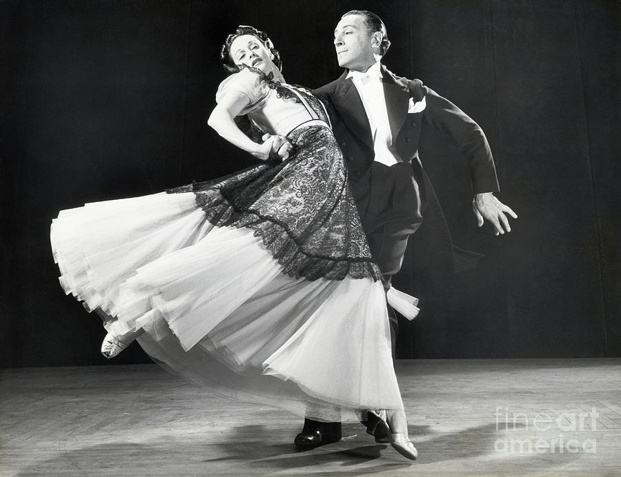 Dance Spin By Professional Dancers Photograph by Bettmann