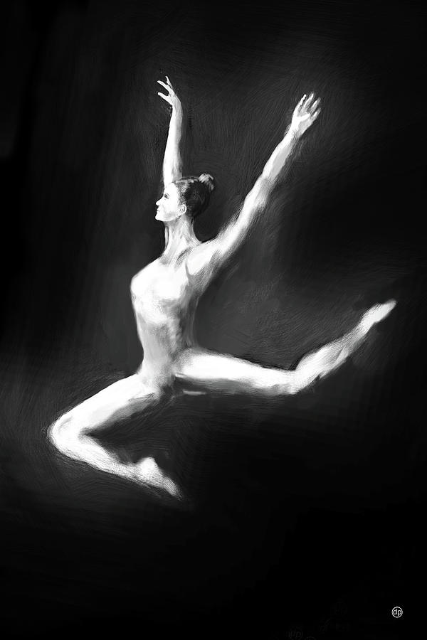 Dancer in Black and White by Digital Painting