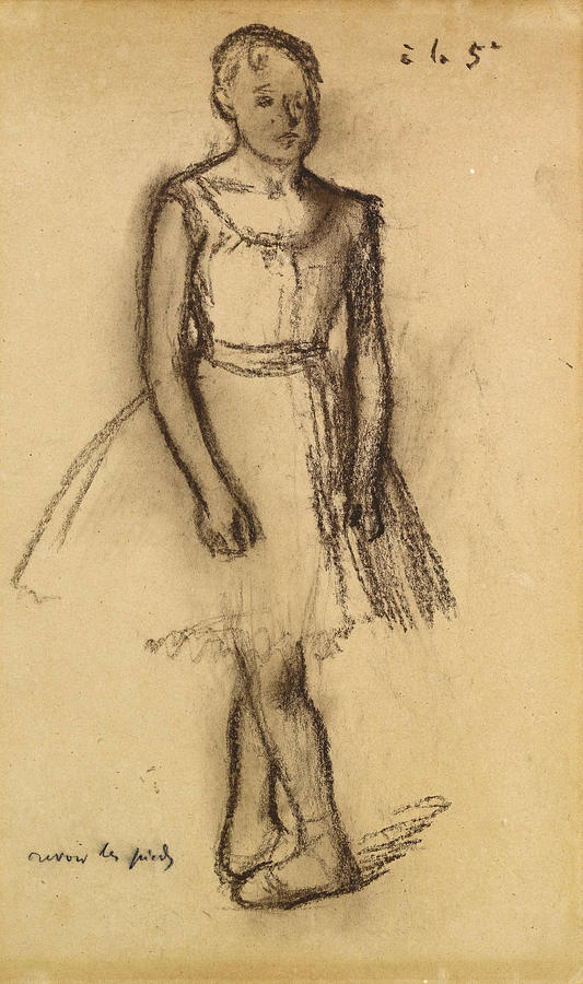 Dancer in Fifth Position by Edgar Degas