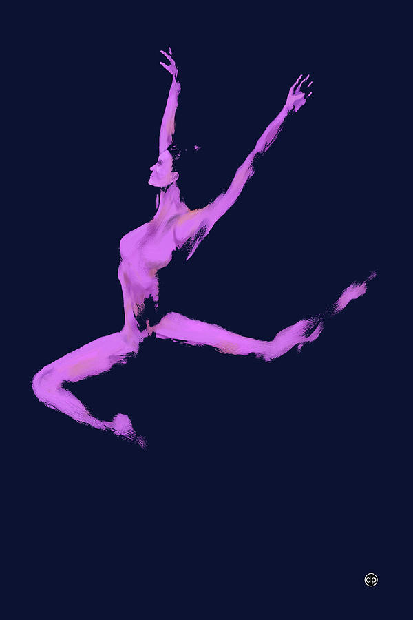 Dancer in the Dark Blue by Digital Painting