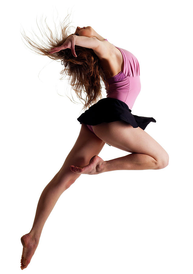 Dancer On White Background Photograph by Proxyminder