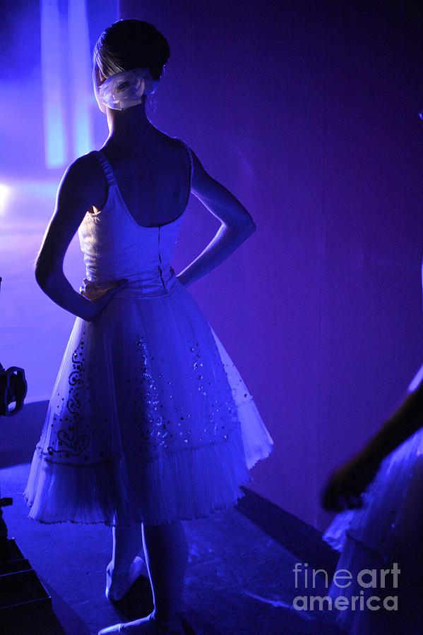 Behind Photograph - Dancer Standing Backstage Waiting For by Anna Jurkovska