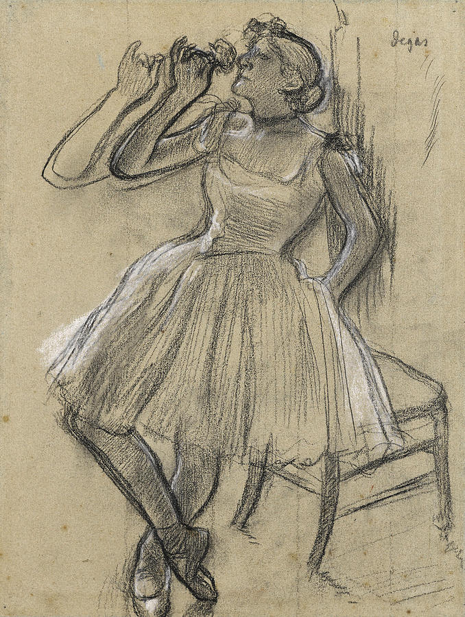 Dancer with a Rose by Edgar Degas