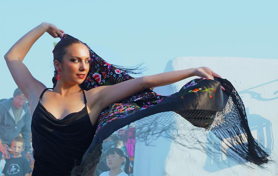 Flamenco Photograph - Dancer With Shawl by Digby Merry