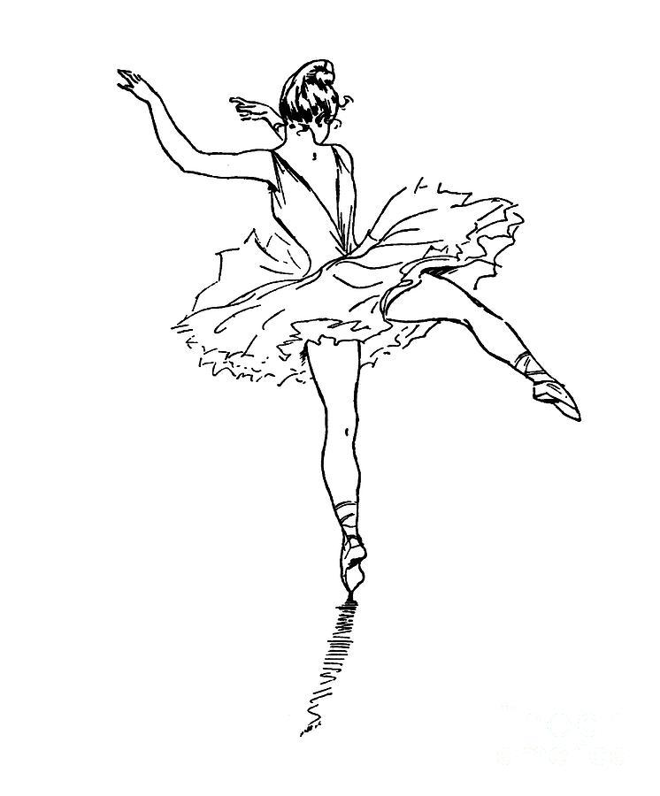 Dancer,Ballet, Ballerina,Drawing by David Millenheft