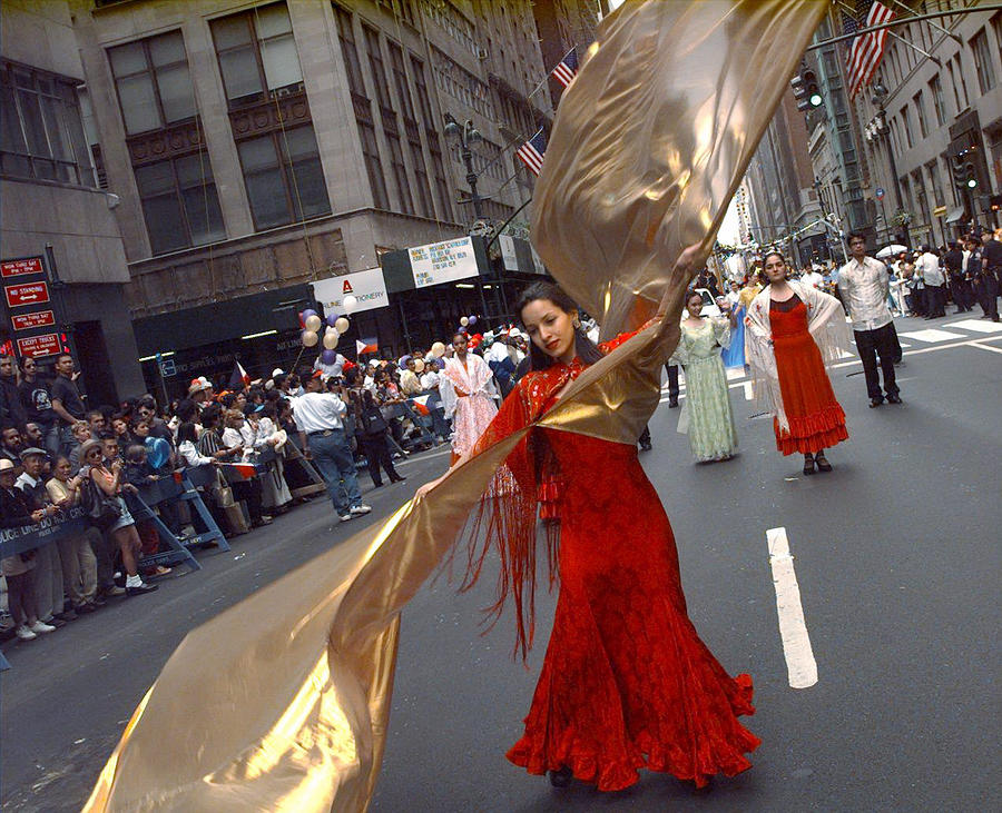 Dancers From The Philippines Spanish Photograph by New York Daily News Archive