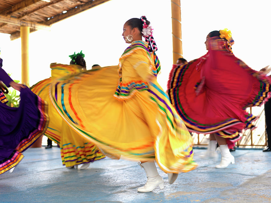 Dancers In Folkloric Costume Performing Photograph by Cosmo Condina