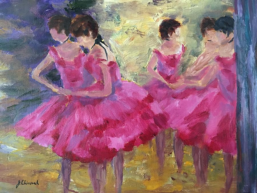 Dancers in Red after Degas by Joe Chicurel