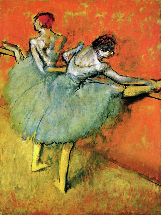 Edgar Degas Painting - Dancers On The Pole - Digital Remastered Edition by Edgar Degas